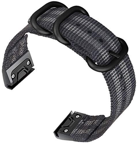 Shieranlee Compatible with Fenix 5 Watch Strap,22mm Nato Woven Nylon Quick Cinturino Compatibile con Fenix 5/Fenix 5 Plus/Forerunner 945/Approach S60/Quatix 5/Fenix 6/Fenix 6 PRO