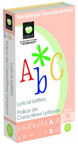 Cricut Cartridge, Lyrical Letters