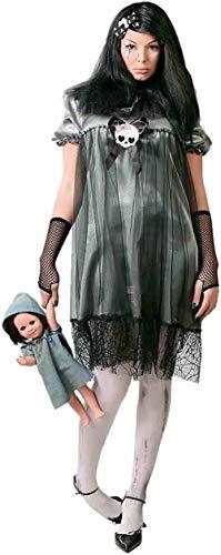 Horror Puppe Baby Kostüm für Damen Halloween Damenkostüm Halloweenkostüm Gr. M-L, Größe:L