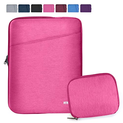 NEWHEY Laptop Sleeve 15.6 Inch Computer Bag Multi-Color Choices Case, Water-Resistant Notebook Pocket Tablet Briefcase,Compatible with 15.4-Inch MacBook Pro 2012 A1286,and Most 15.6' Laptop,Pink