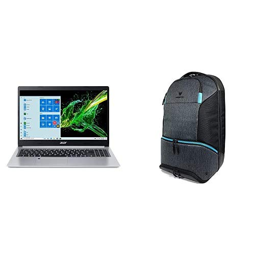 Acer Aspire 5 Slim Laptop A515-55-75NC, 15.6' Full HD IPS Display, 10th Gen Intel Core i7-1065G7, 8GB DDR4, 512GB NVMe SSD with Predator Hybrid Gaming Backpack