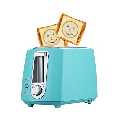 Acero Inoxidable Tostadora Eléctrica, hogar automático panificadora Fabricante de Desayuno máquina de Tostadas Sandwich Grill Horno de 2 rebanadas de Inicio,Azul