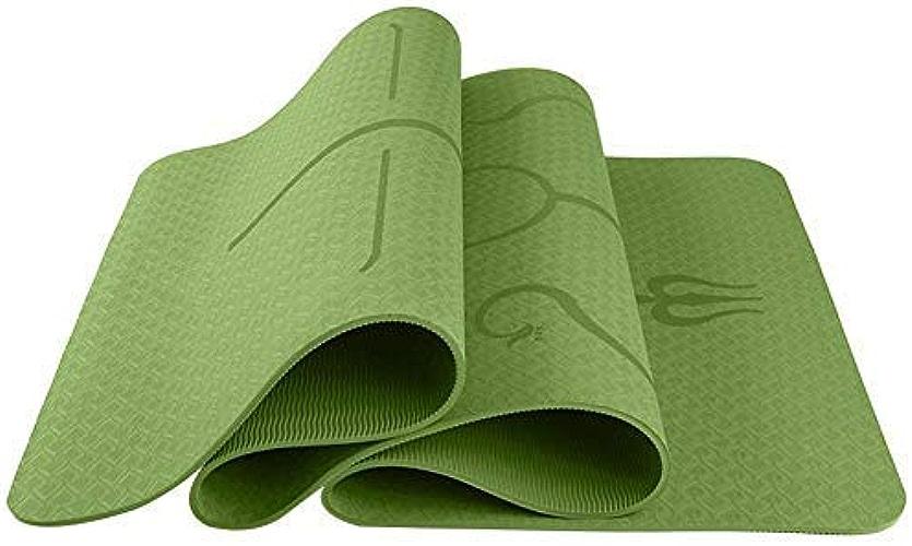 TSANG Tapis De Yoga Tapis De Yoga 6 Mm TPE Prougeection Multifonctionnelle Tapis De Yoga Tapis De Yoga Tapis De Fitness Tapis De Prougeection Corporelle Style