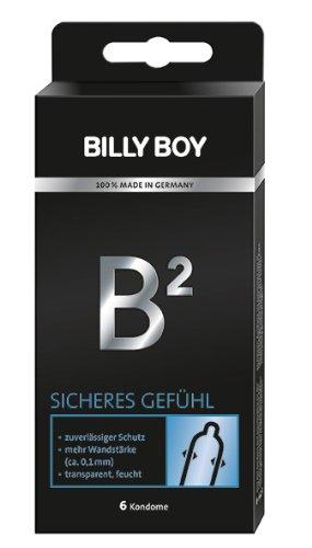 Billy Boy B² Sicheres Gefühl Kondome mit 0.1mm Wandstärke. 6er Packung. 6 Kondome
