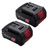 Powerextra 2 Stück Ersatzakkku(verbesserte Version) 18V 5500mAh Li-ion Akku kompatibel mit BAT609 BAT610G BAT618 BAT619