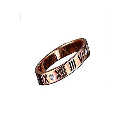 GYJUN Bague bijoux titane acier à la mode Daily / Casual argent / Rose or 1pc , 8