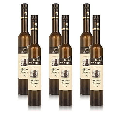 6 Flaschen Rheinberg Silvaner Eiswein Prädikatswein Rheinhessen Weisswein, süss (6x0,375l)