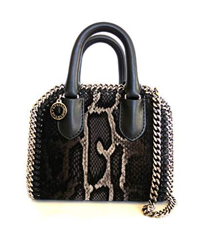 Stella McCartney pochette borsa tracolla tote mini velluto donna 455138 W8083 grigio