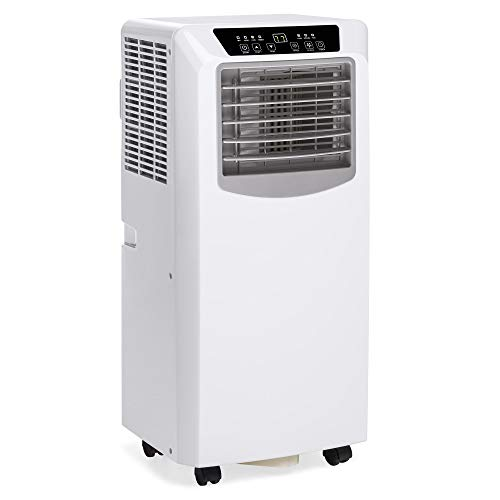 Best Choice Products 3-in-1 10,000 BTU Portable Compact Air Conditioner AC Cooling Fan Dehumidifier Unit for Up to 200 Sq. Ft. w/Remote Control