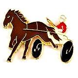 限定 レア ピンバッジ 二輪馬車のレース競馬 ピンズ フランス