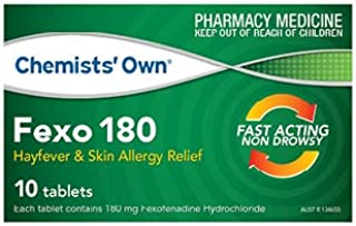 Chemists Own Fexo 180mg 10 Tabs (Generic for TELFAST)