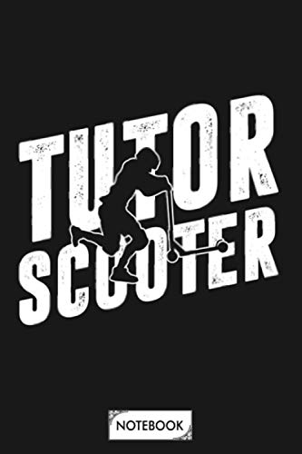 Tutor Scooter Notebook: 6x9 120 Pages, Matte Finish Cover, Journal, Diary, Lined College Ruled Paper, Planner