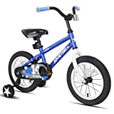 JOYSTAR 18 Inch Kids Bike with Training Wheels for 5 6 7 Years Old Boys, Toddler Cycle for Early Rider, Child Pedal Bike, Blue