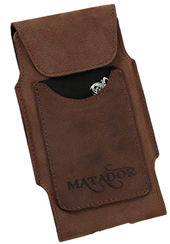 MATADOR Leder Hülle kompatibel mit Galaxy A71 / Xcover PRO Tasche Hülle Etui Gürteltasche Antik Braun