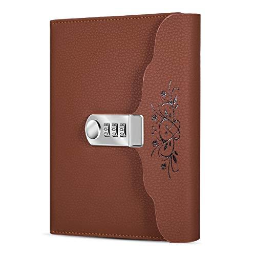 ARRLSDB Lock Diary Leather Journal Writing Notebook...