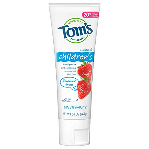 Tom's of Maine Natural Children's Fluoride-Free Toothpaste, Silly Strawberry, 5.1 oz.