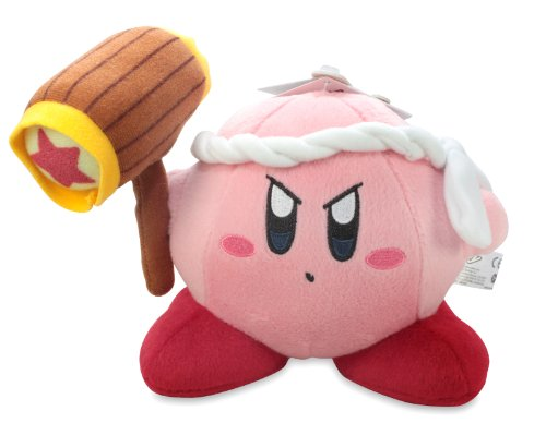 Little Buddy Official Kirby Adventure Hammer Kirby 6' Plush Doll