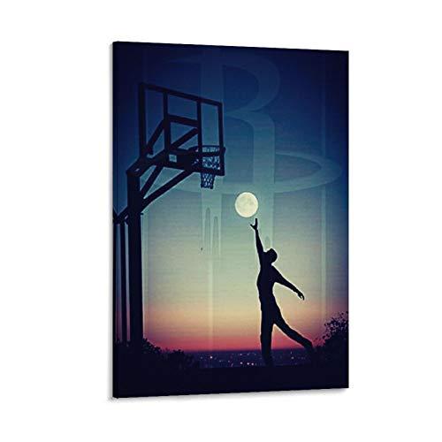 ZXCVW Basketball3 Poster, dekoratives Gemälde, Leinwand, Wandkunst, Wohnzimmer, Poster, Schlafzimmer, Gemälde, 30 x 45 cm