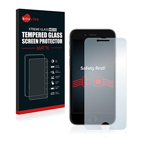 savvies Vetro Temperato Opaco Compatibile con iPhone 6 / 6S Pellicola Prottetiva Vetro - Durezza 9H, Antiriflesso