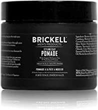 Brickell Men's Styling Clay Pomade For Men, Natural & Organic with Strong Hold & Matte Finish, Product for Modern Hairstyles, 2 Ounces, Scented