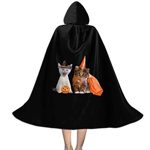 Amanda Walter Halloween Gato Calabaza nios Capa con Capucha Novedad grfico Navidad Halloween decoracin Disfraz Capa