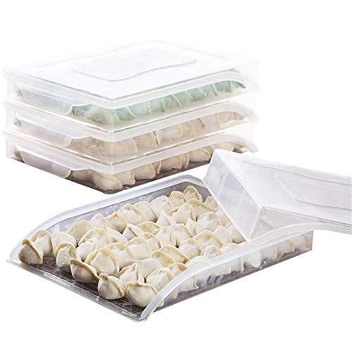 1 caja de almacenamiento para refrigerador con tapa de plástico para frigoríficos, organizador de alimentos, contenedor sellado, contenedor de albóndigas antiadherente, cajas de alimentos transparentes, para almacenamiento de alimentos