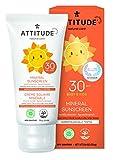 ATTITUDE mineralische Sonnencreme für Babys & Kinder Vanille LSF 30