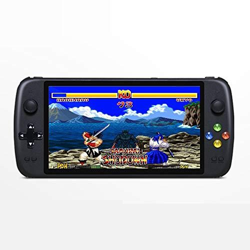 CZT Consola de Juegos de Cuatro núcleos de 7 Pulgadas precisa Doble Joystick Compatible con múltiples emuladores incorporados 9000 Juegos Salida HDMI 4000mAh batería de Litio Recargable mp3 (Negro)