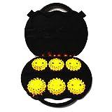 Cablematic - Maleta de 6 balizas de señalización LED color amarillo