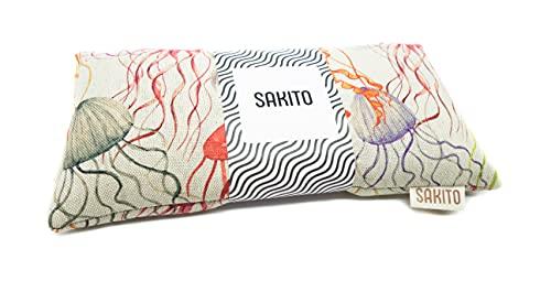 Saco Térmico de Semillas de Trigo y Lavanda   Saco Semillas Lavanda para Microondas   Bolsa de Semillas Calor y Frío   25x12 cm   Caja Incluída (Medusas)