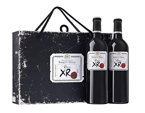 XR de Marqués de Riscal - Vino tinto Reserva Denominación de Origen Calificada Rioja, Variedad Tempranillo, 24 meses en barrica - Estuche 2 botellas x 750 ml - Total 1500 ml