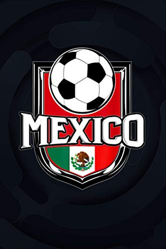 Mexico Soccer Ball   Mexican Flag Football Tee College Ruled Notebook 6x9 inch