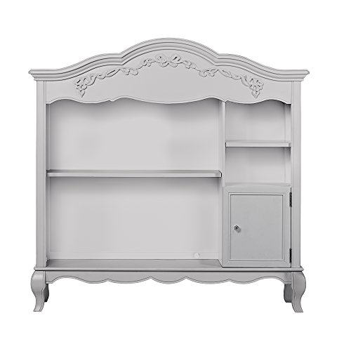 Why Choose Evolur Aurora Bookcase in Akoya Grey Pearl/Silver Mist