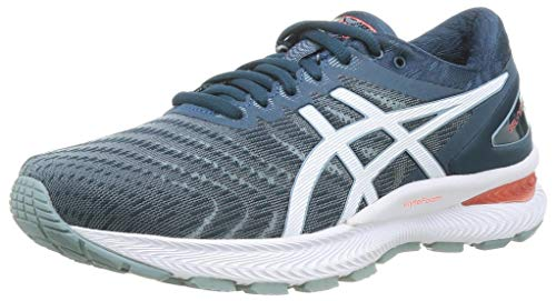 ASICS Mens Gel-Nimbus 22 Running Shoe, Light Steel/Magnetic Blue,46 EU