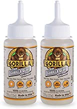 Gorilla Clear Glue, 3.75 ounce Bottle, Clear (Pack of 2)