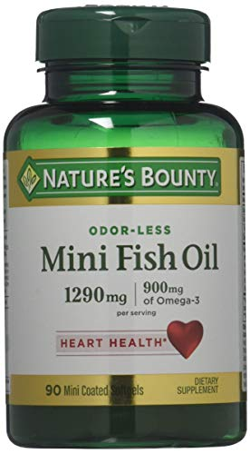 Nature#039s Bounty Fish Oil 1290 mg 90 Mini Odorless Softgels