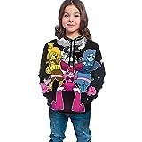 Lsjuee St-ev-en Warm Un-IV-er-seTeen suéter con Capucha Nuevas Sudaderas cálidas de Moda para niños/niñas/Adolescentes/niños