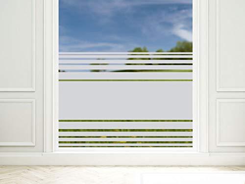 GRAZDesign Sichtschutzfolie Fenster Streifen, Fensterfolie zur Deko/Sichtschutz, Glasdekorfolie Blickdicht / 80x57cm