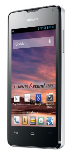 Huawei Ascend Y300 Smartphone (10,2 cm (4,0 Zoll) Touchscreen, 5 Megapixel, 4 GB Interner Speicher, Android 4.1.1 (Jelly Bean)) weiß