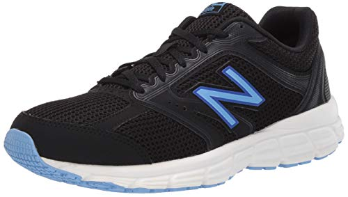 New Balance Women's 460 V2 Running Shoe, Black/Team Carolina, 12 W US