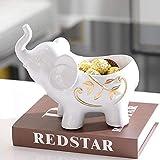 YAeele Decoración Decoraciones Art Craft Elefante Caja de Almacenamiento Creativa Resina Sala de gabinete del Vino Porche Vida en el hogar 8