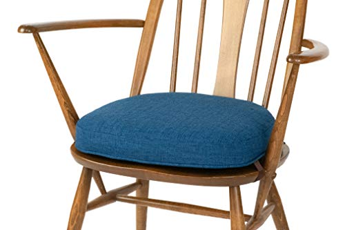 Inspirado Seat Cushion for Ercol Windsor Dining Chair (order several cushions if a set is required) (Seat-width-451mm, 10 Blue)