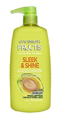 Garnier Fructis Sleek & Shine Conditioner for Frizzy Hair, 33.8 Ounce Bottle