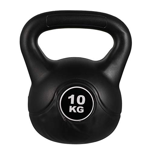 Umerbee Black Coated Iron Kettlebell Weights 6kg / 13.2lbs for Full Body Workout Strength Training