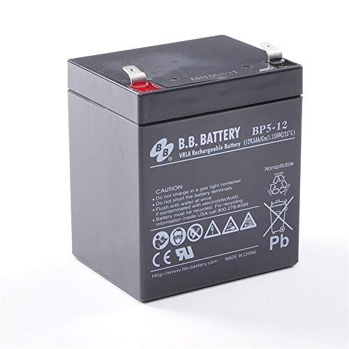 Pila batteria Ricaricabile Ermetica 12V 5Ah -(mm) 90x70x101(h) UPS VRLA