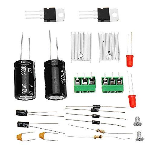 Módulo electrónico Módulo de alimentación de bricolaje LM7812 LM7912 + Regulador de voltaje dual puente rectificador de potencia ± 12V del kit 10pcs Equipo electrónico de alta precisión