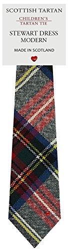 I Luv Ltd Garçon Tout Cravate en Laine Tissé et Fabriqué en Ecosse à Stewart Dress Modern Tartan