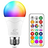 iLC LED Lampe ersetzt 85W, 1050 Lumen, RGB Glühbirne mit Fernbedienung Farbwechsel Farbige Birne warmweiß (2700 Kelvin), Edison E27