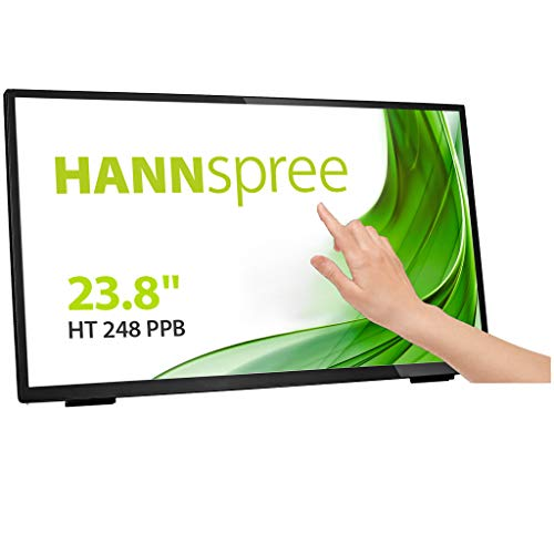 "HANNspree HT248PPB 60,45cm (23,8\"") Multitouch-Monitor Full-HD 250cd VGA HDMI Lautsprecher USB VESA Neigbar USB Hub"