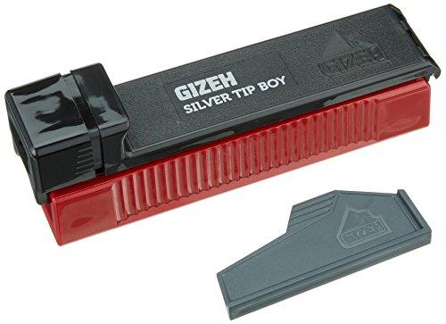 Gizeh 2 Stück Silver Tip Boy-Zigaretten Stopfmaschine Zigarettenstopf Maschine, Kunststoff, schwarz, 8 x 3 x 3 cm